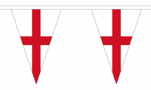 England Triangular Flag Bunting - 20m Long - 54 Flags